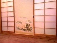 fusumapapier shinsen sch ne japanische textiltapeten mit klassischen landschaftsmotiven f r t r. Black Bedroom Furniture Sets. Home Design Ideas