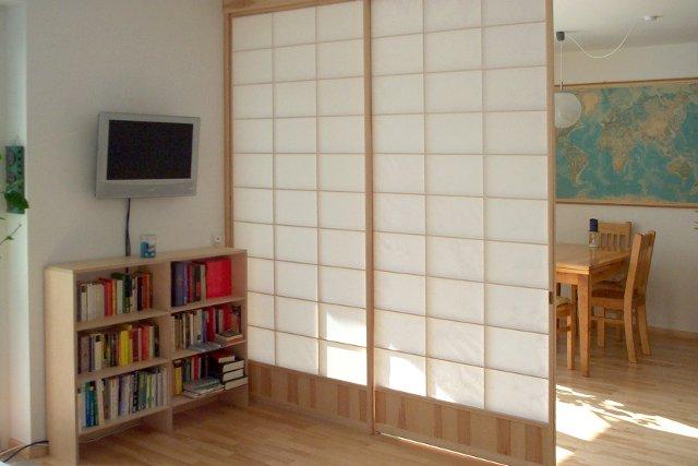 shoji trennwand b rozubeh r. Black Bedroom Furniture Sets. Home Design Ideas