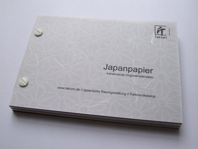 japanese paper sample book takumi shop